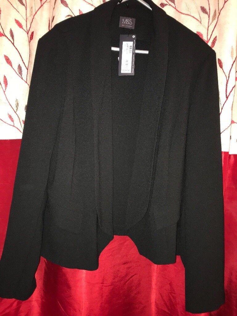 Black ladies coat M&S size 20