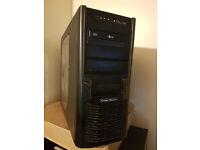 Coolermaster SLi Gaming PC, Quad Core 4X 2.8Ghz, 2TB 240GB HDD, 4GB, Geforce GTS250 , Wifi, Win 10