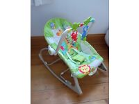 Fisher-Price Rainforest Infant to Toddler Rocker Baby Vibrating Chair