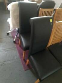 Pair of roll top dining chairs