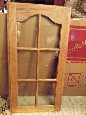 KraftMaid Kitchen Golden Cathedral Glass Door LH Honey Spice 14.5 x 28