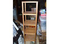 Ikea 5 tier freestanding wooden shelving unit. Oak colour.