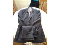 Burton charcoal pinstripe suit