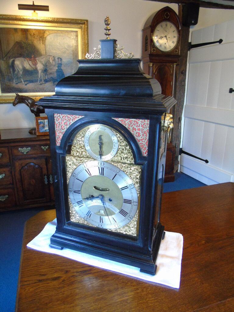Superb Georgian Bracket Clock by famous London maker John Fladgate c ...