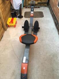Body sculpture folding rowing machine