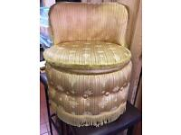 Antique Gold Bedroom Chair - Upholstered - Kingsthorpe - £10