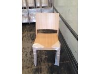 Restaurant dining stackable chairs job lot 100 natural