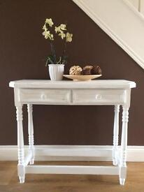 Upcycled console table