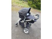 Icandy apple 2 pear apple to pear pram pushchair tandem twin good condition designer