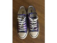 Metallic purple converse size 6