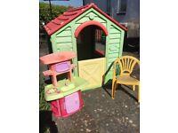 Child's plastic playhouse