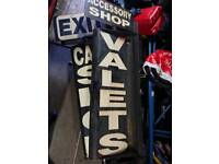 3 x rotating signs for car wash, tyre, accessories sgop