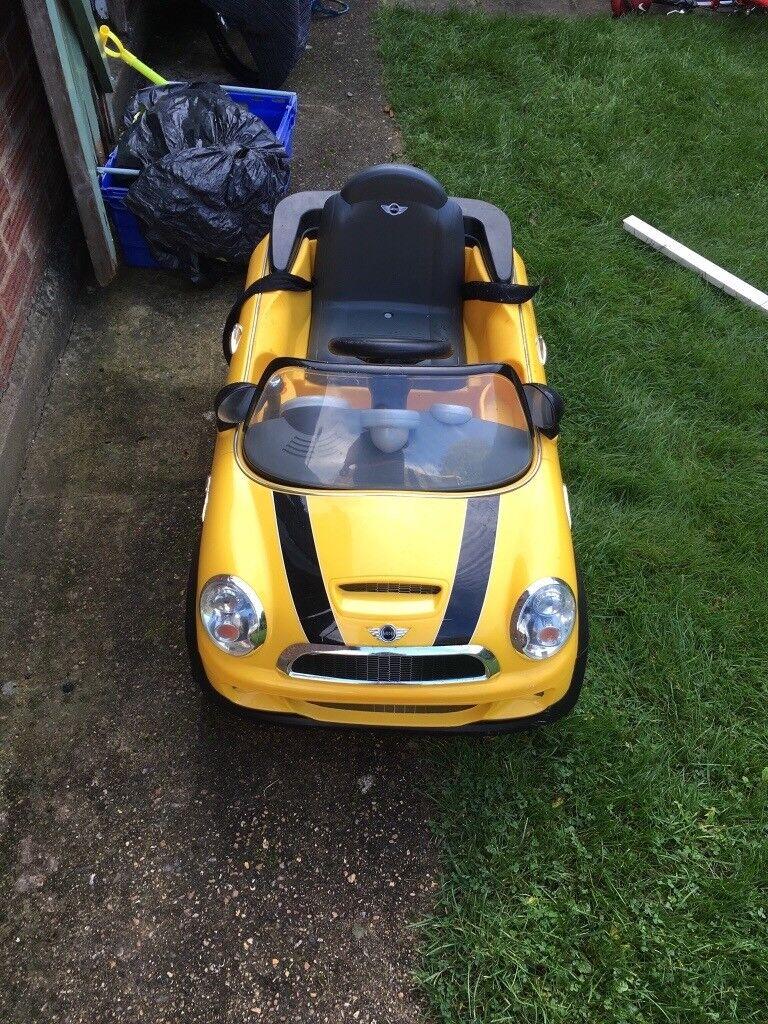 Mini yellow electric car