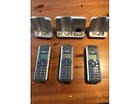 Cordless telephone set of 3