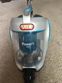 Immaculate condition rarely used Vax Power5 Pet cylinder vacuum