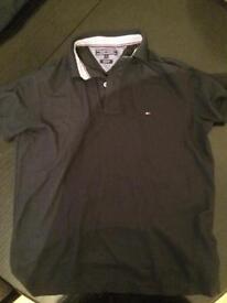 Tommy hilfiger black polo tshirt