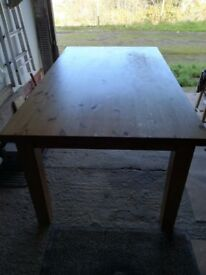 Dining Table. Perfect for xmas as it seats 8. Top needs slight attention hence only£45.
