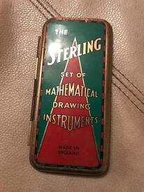 Vintage maths set found in shed