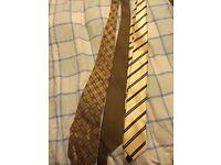 3 men's ties/yellow/gold