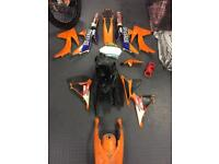 Ktm 125 144 150 200 250 450 plastics and 125 150 exhaust