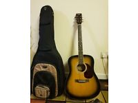 Countryman Acoustic Guitar with CNB Padded bag with extra string boxes
