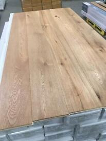 Brushed and oiled engineered flooring