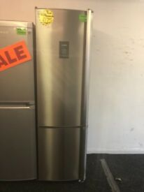 AEG TALL FROST FREE FRIDGE FREEZER IN STAINESS STELL