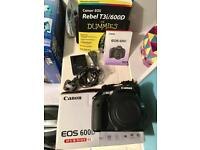 600d Canon DSLR Body only