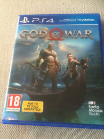 God of War PS4-almost new