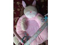 Teddys toy box play mat pink