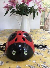 Cute ladybird cycle helmet