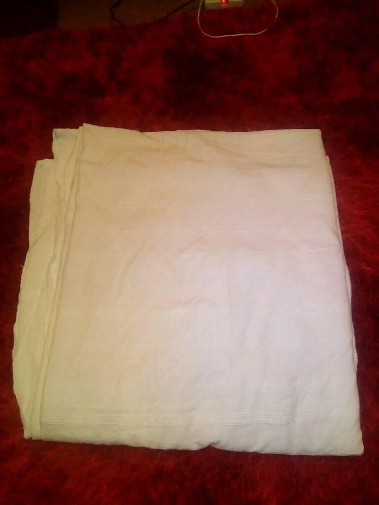 Giant white cotton IKEA throws 180 x 270