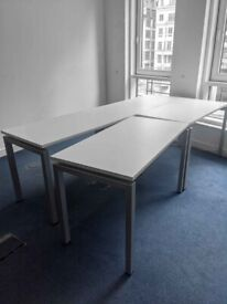 FREE SAME-DAY DELIVERY - Rectangular White Office Desk 1200mm by 600mm