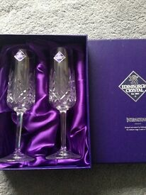 Edinburgh Crystal Champagne Glasses