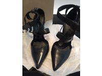 Kurt Geiger black leather heels (Size 36) - worn once