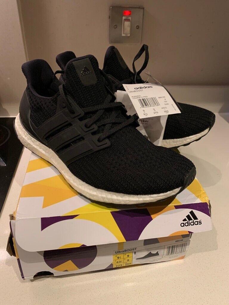 adidas ultra boost black size 9