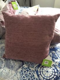 New Chenille Cushions x4