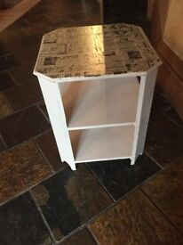 Decoupaged side table
