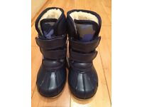 M&S BOYS BOOTS NAVY MIX UK8 New with tags, £15