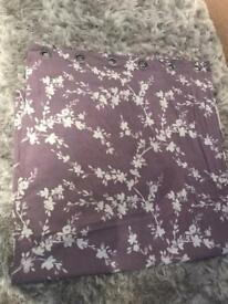 Lilac lined curtains 90x90
