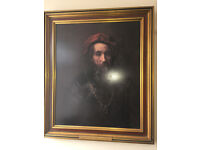 "Framed Rembrandt ""Portrait of a Rabbi"" Art Print"