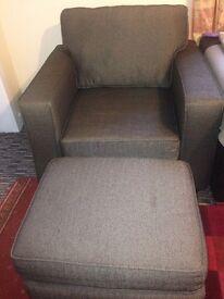 Sofa arm chair & foot stool