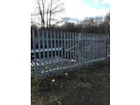 Galvanised Palisade gates with posts 4.8 x 1.8