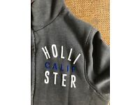 Grey small Hollister Hoodie zip fronted