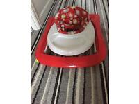 Baby walker with activity tray
