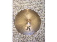 Zildjian K 24 inch Light Ride Cymbal, slightly damaged