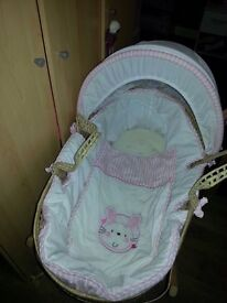 Girls Moses basket n stand