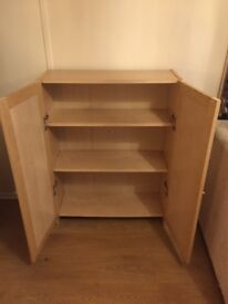 Ikea Billy Bookcase with Oxberg doors