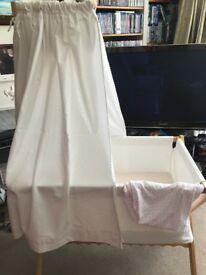 Beautiful French Jacadi Infant Cot - Crib with Drapes