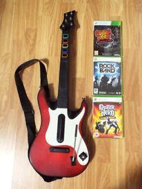 Guitar Hero Warriors of Rock, Rock Band, World Tour and Guitar
